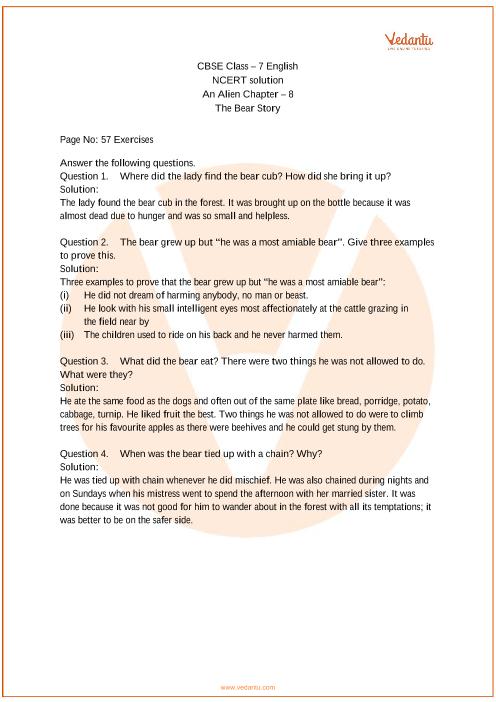 NCERT Solutions Class 7 English An Alien Hand Chapter-8 part-1