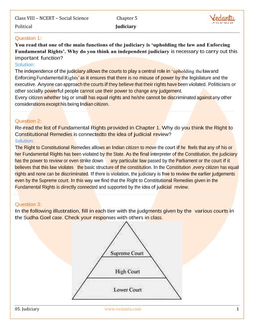 NCERT Solutions for Class 8 Social Science Civics Chap-5 part-1