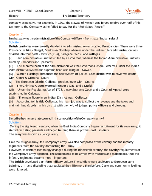NCERT Solutions for Class 8 Social Science History - Our