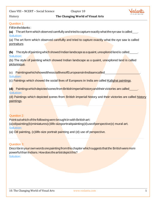 NCERT Solutions for Class 8 Social Science History Chap-10 part-1