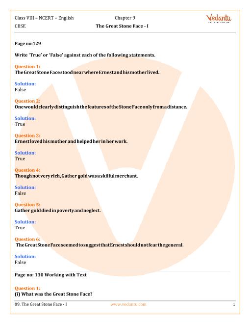 NCERT Solutions Class 8 English Honeydew Chap-9 part-1