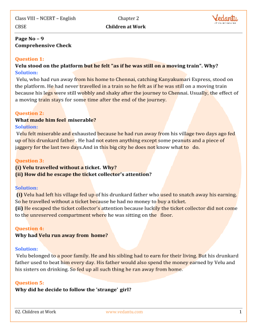 NCERT Solutions Class 8 English IT So Happened Chap-2 part-1