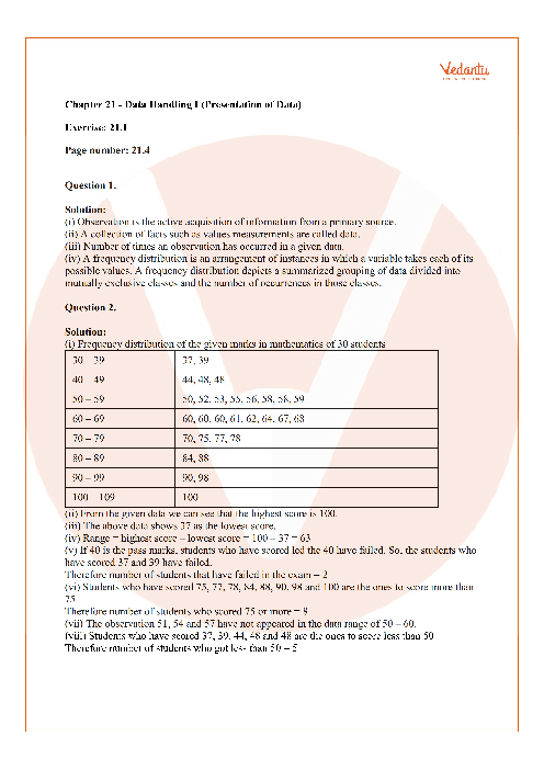 RD Sharma Class 6 Solutions Chapter 21 part-1