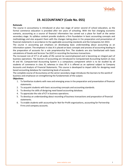 CBSE Class 11_Accountancy_2018-2019_Syllabus part-1