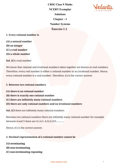 ncert maths class 9 chapter 1