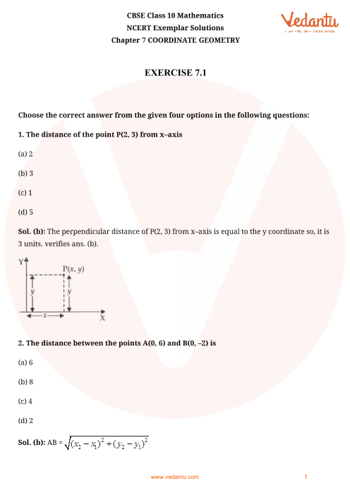 NCERT Exemplar for Class 10 Maths Chapter-7 part-1