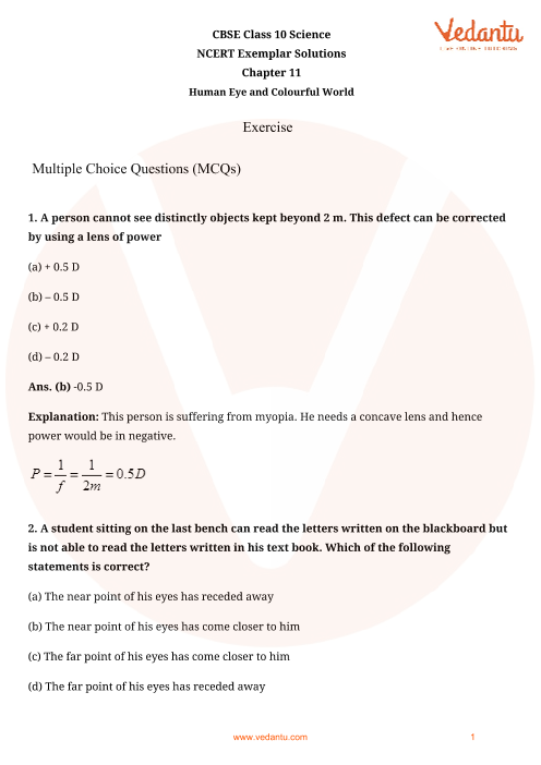 NCERT Exemplar for Class 10 Science Chapter-11 part-1