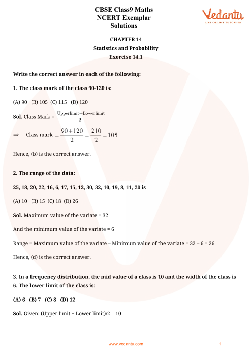 NCERT Examplar for Class 9 Maths Chapter-14 part-1