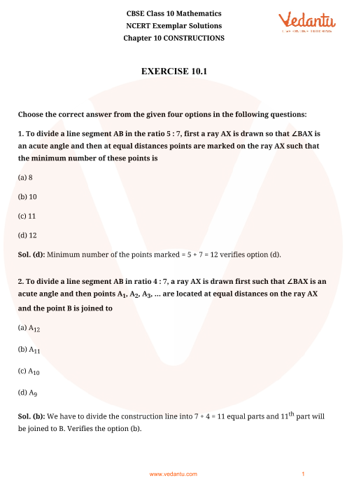 ncert exemplar class 10 maths solutions pdf download