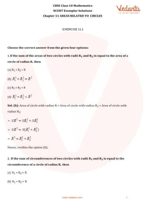 NCERT Exemplar for Class 10 Maths Chapter-11 part-1