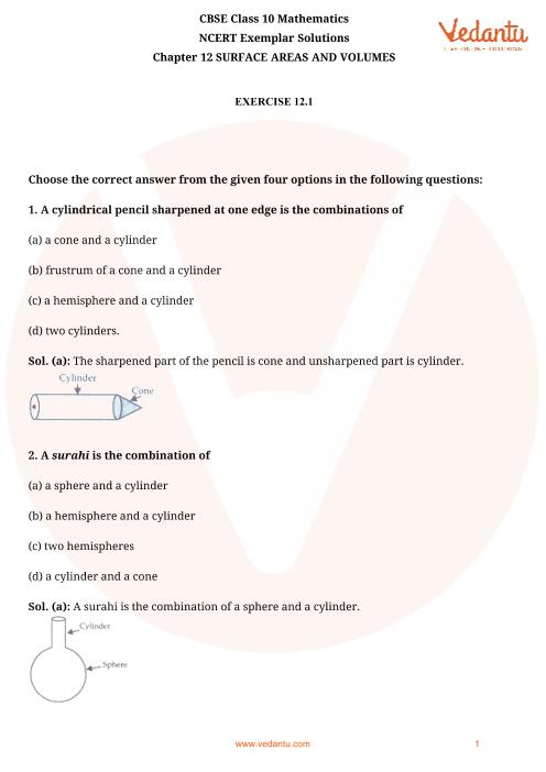 NCERT Exemplar for Class 10 Maths Chapter-12 part-1