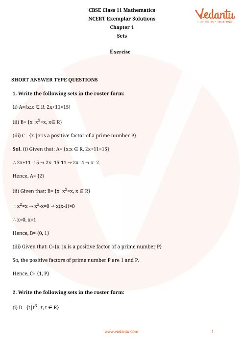NCERT Exemplar Class 11 Maths Chapter-1 part-1