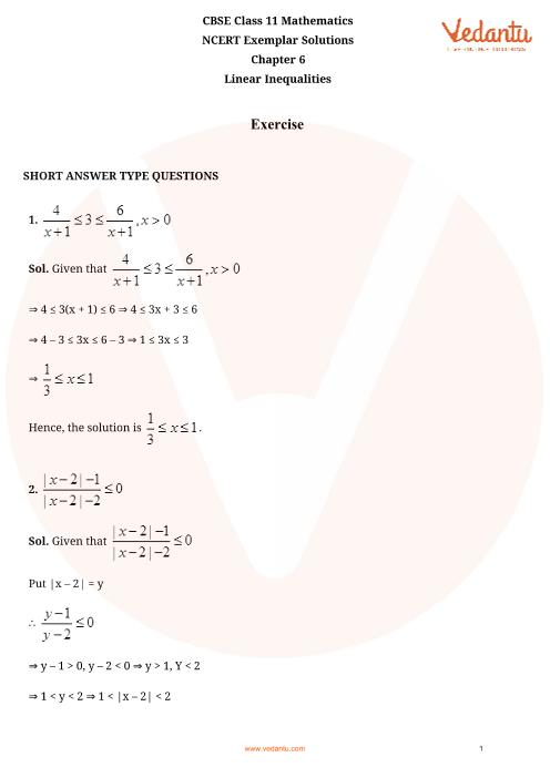 NCERT Exemplar Class 11 Maths Chapter-6 part-1