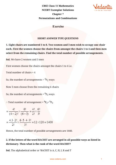 NCERT Exemplar Class 11 Maths Chapter-7 part-1