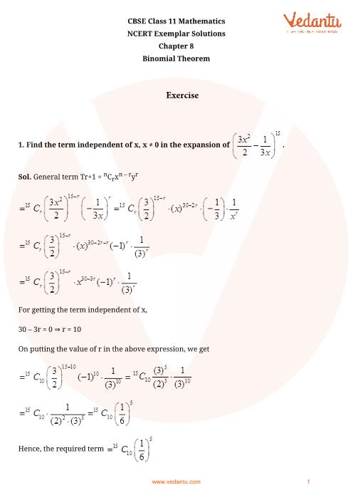 NCERT Exemplar Class 11 Maths Chapter-8 part-1