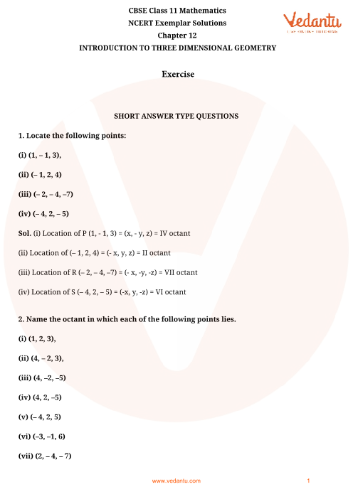 NCERT Exemplar Class 11 Maths Chapter-12 part-1