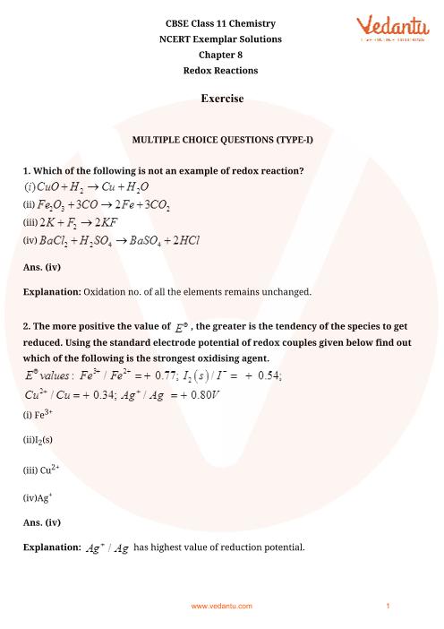 NCERT Exemplar Class 11 Chemistry Chapter-8 part-1