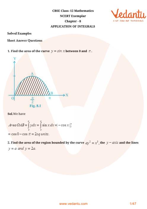 NCERT Exemplar Class 12 Maths Chapter-8 part-1