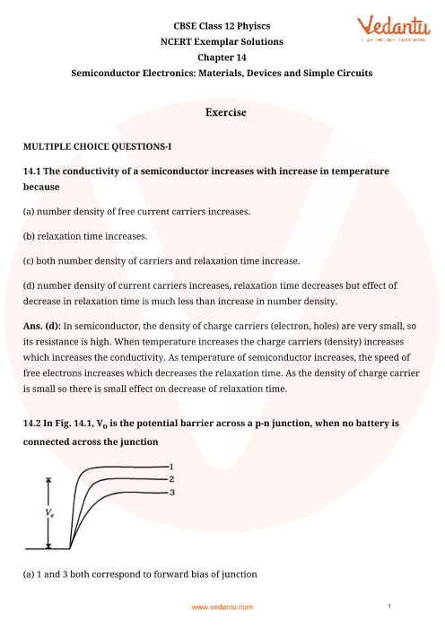 NCERT Exemplar Class 12 Physics chapter-14 part-1