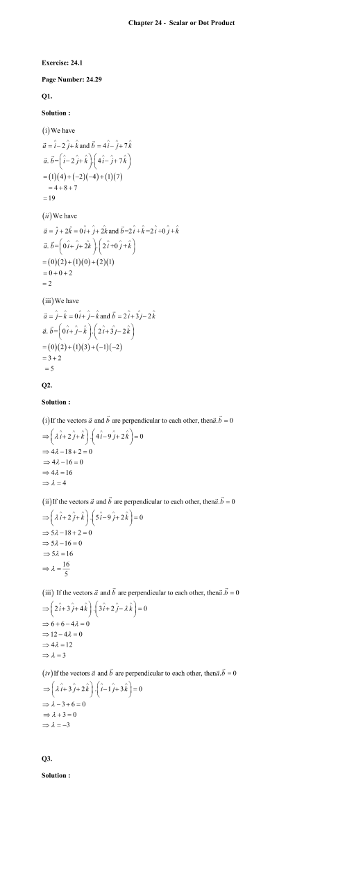 RD Sharma Class 12 Solutions Chapter 24 part-1