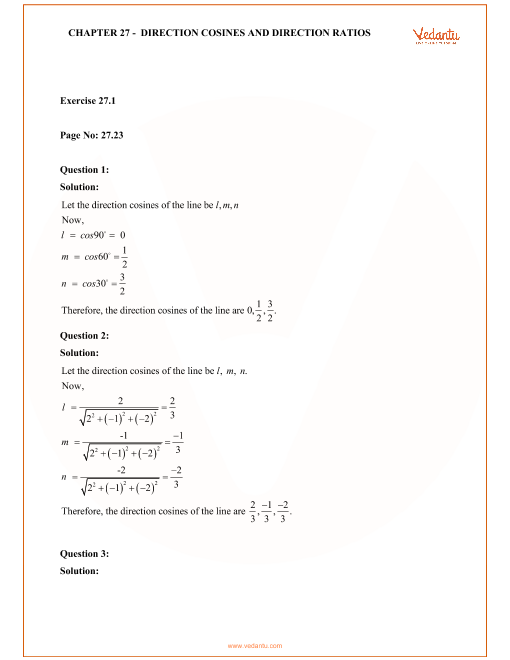 RD Sharma Class 12 Solutions Chapter 27 part-1