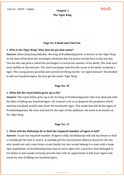 NCERT Solutions for Class 12 English Vistas Chapter-2 part-1