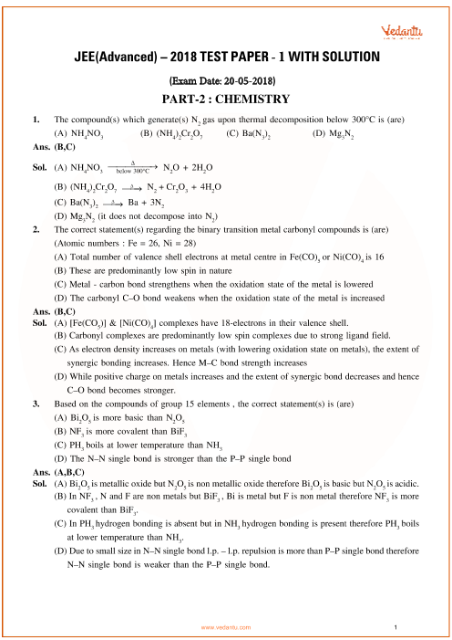 Jee-advanced-2018-Paper-1-With-Solutions-Chemistry part-1
