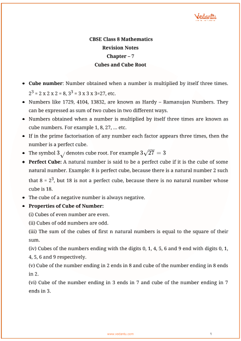 Class_8_math_revision_ch7_cubes and cube root part-1