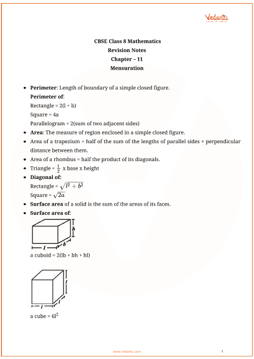 CBSE MATHEMATICS NOTES FOR CLASS 11