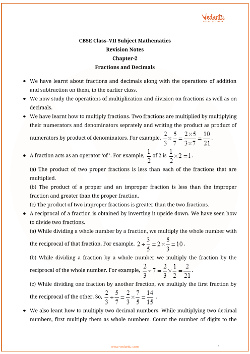 Class_7_maths_key_notes_ch2_fractions_and_decimals part-1