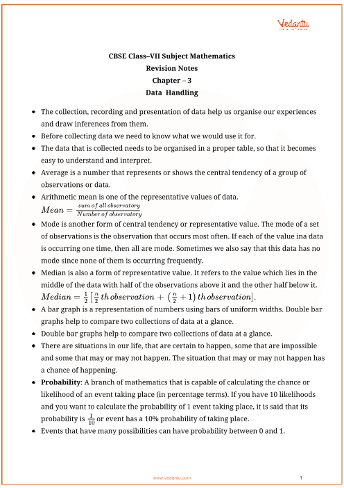 Class_7_maths_key_notes_ch3_data_handling part-1
