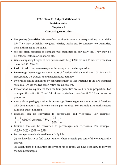 Class_7_maths_key_notes_ch8_comparing_quantities part-1
