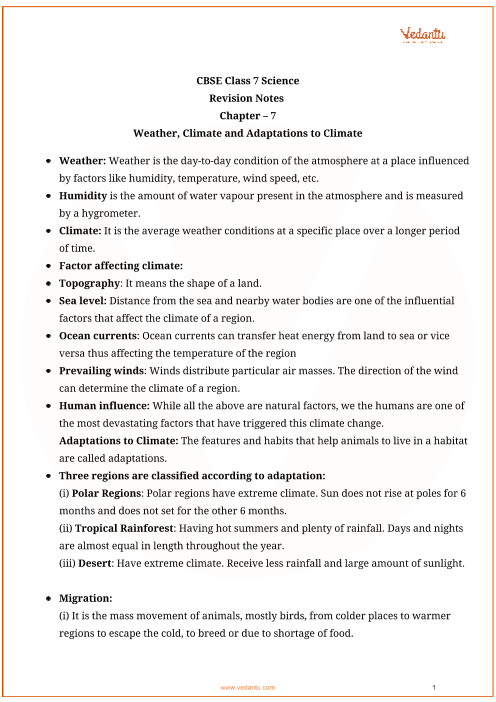 Class_7_science_key_notes_ch07_weather_climate_and_adaptations_of_animals_to_climate part-1