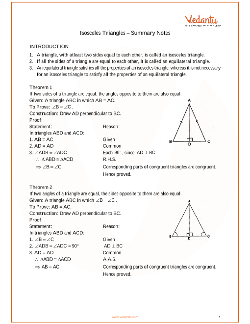 ICSE Class_09_maths_ch10_Isosceles Triangles Notes part-1