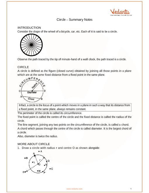 ICSE Class_09_maths_ch17_Circle Notes part-1