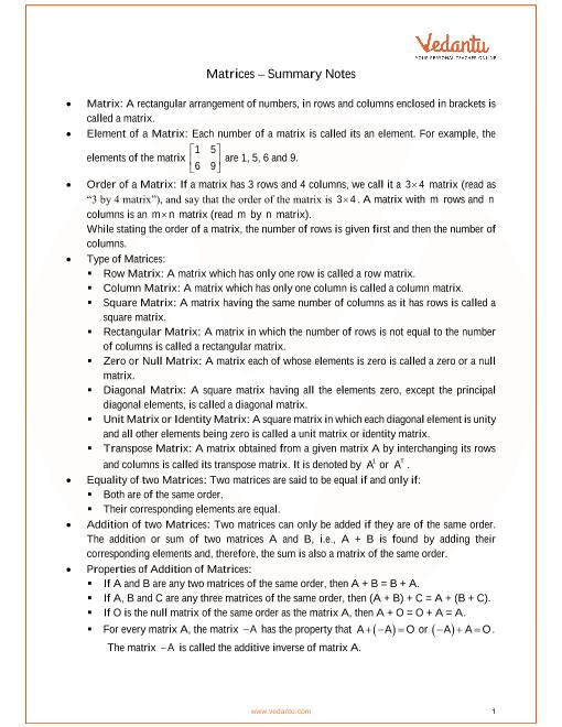 ICSE Class_10_maths_ch9_Matrices Notes part-1