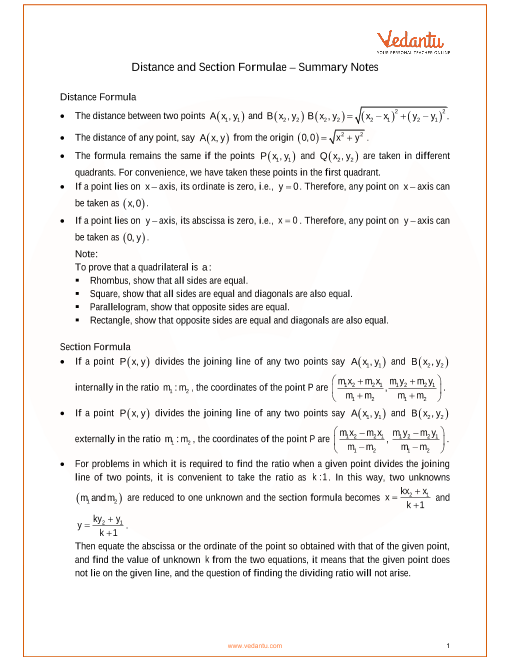 ICSE Class_10_maths_ch13_Section and Mid-point Formula Notes part-1