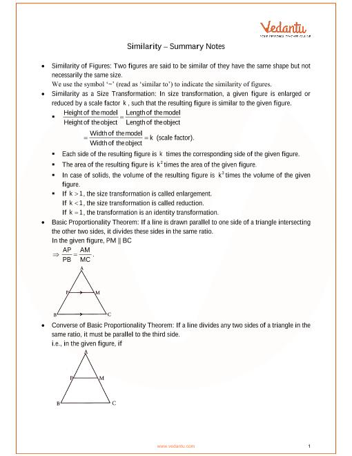 ICSE Class_10_maths_ch15_Similarity Notes part-1