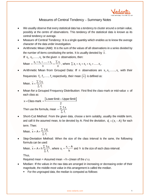 ICSE Class_10_maths_ch24_Measures of Central Tendency Notes part-1