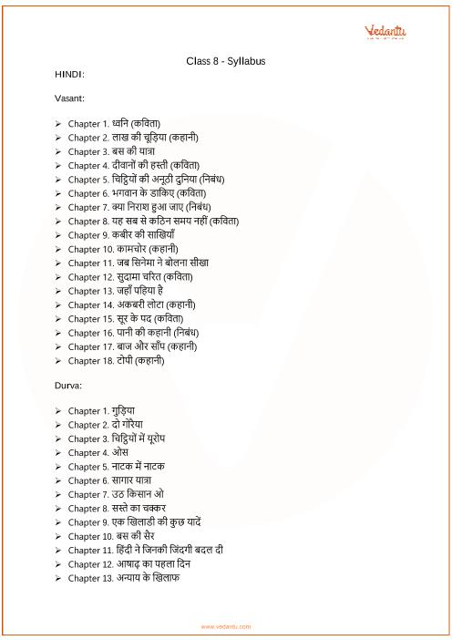 CBSE Class 8_Hindi_2018-2019_Syllabus part-1