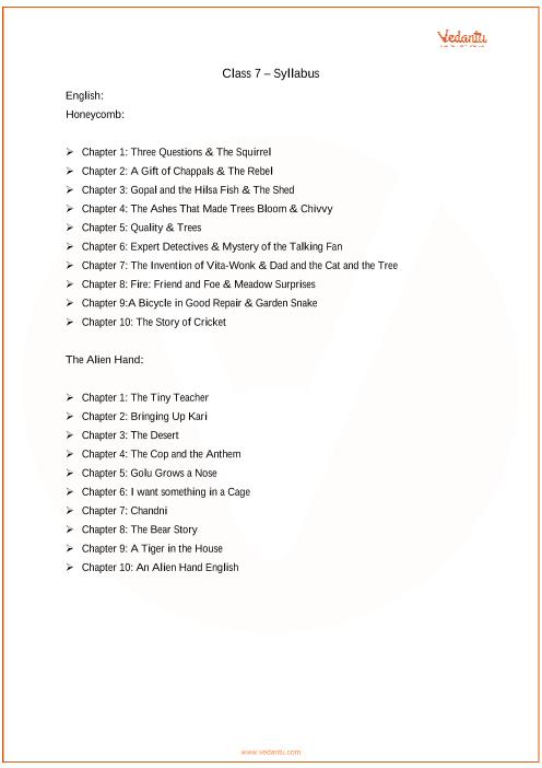 Class 7_English_2018-2019_Syllabus part-1