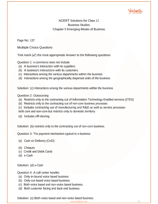 Class 11-Chapter 5-Emerging Modes of Business final part-1