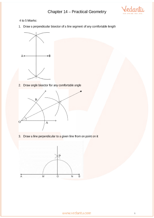 Important Questions Class 6 Maths Chapter 14_Practical Geometry part-1
