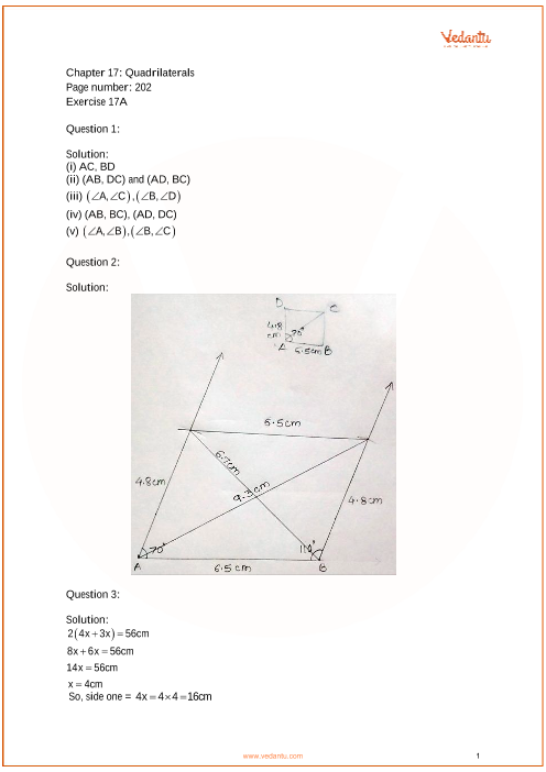 RS Aggarwal Class 6 solutions Chapter 17_Quadrilaterals part-1