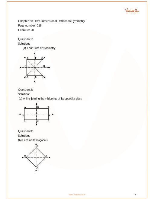 RS Aggarwal Class 6 solutions Chapter 20_Two Dimensional Reflection Symmetry part-1