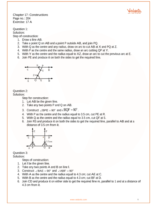 RS Aggarwal Class 7 Solutions Chapter 17_Constructions part-1
