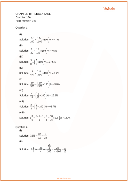 RS Aggarwal Class 7 Solutions Chapter 10_Percentage part-1