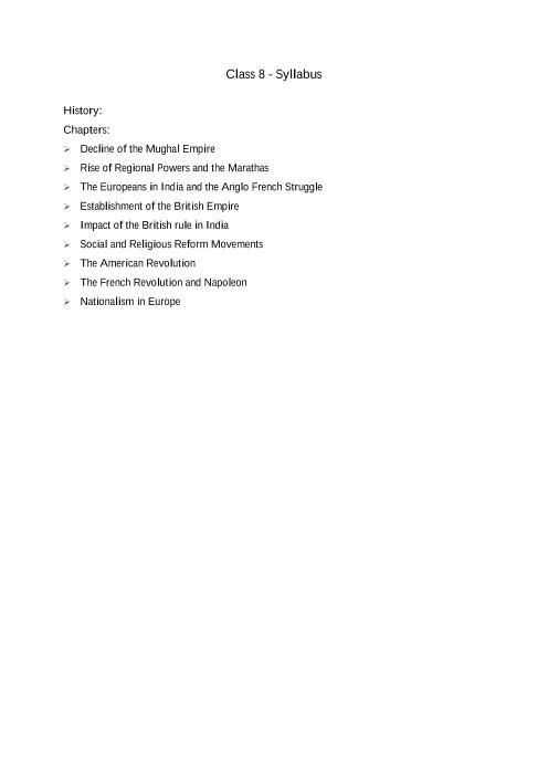 ICSE Class 8_History_2018-2019_Syllabus part-1