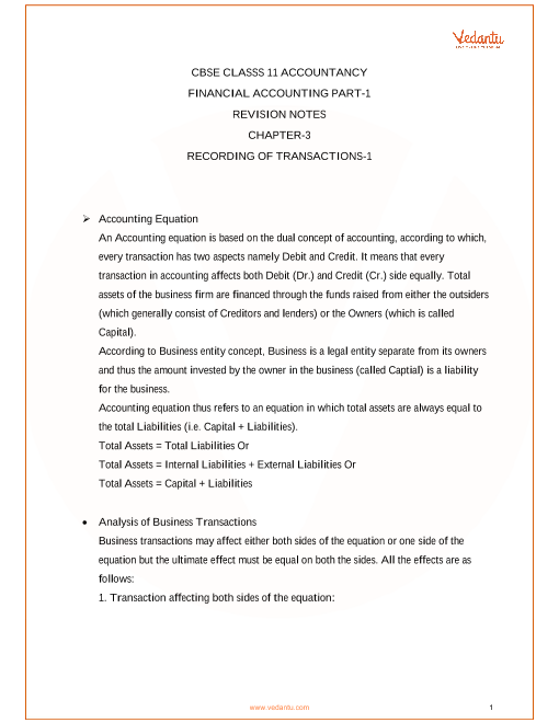 Ncert Accountancy Book Class 11 Solutions Pdf