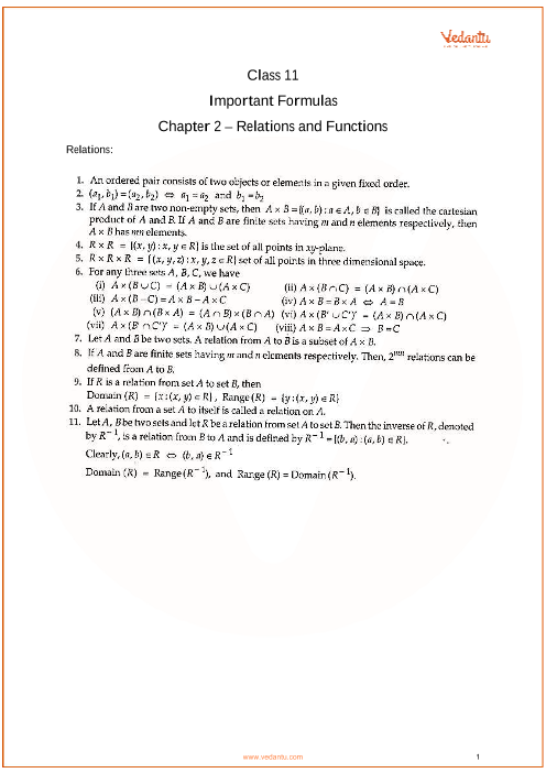 Chapter 2 - Relations and Functions part-1